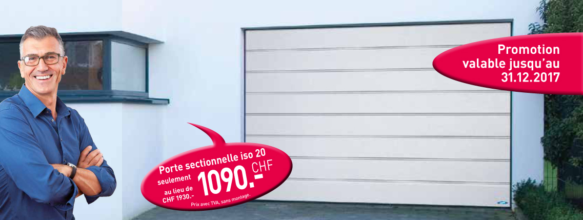 Promotion porte sectionnelle novoferm for Promotion porte de garage sectionnelle